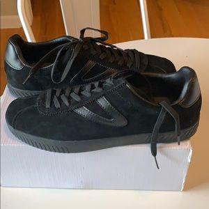 NIB Men's Tretorn Camden3 Black Suede Sneakers